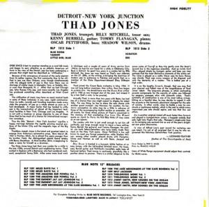 Detroit-New York Junction / Thad Jones Blue Note BLP 1513 back