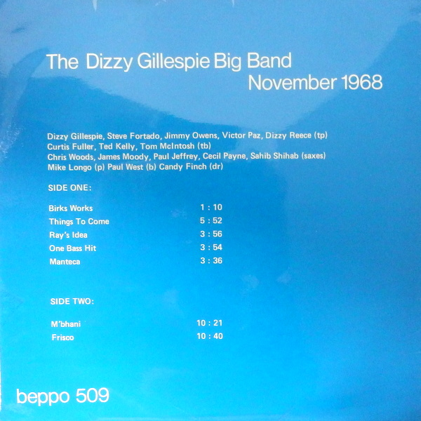Dizzy Gillespie Big Band - November 1968 (Beppo BEP-509)