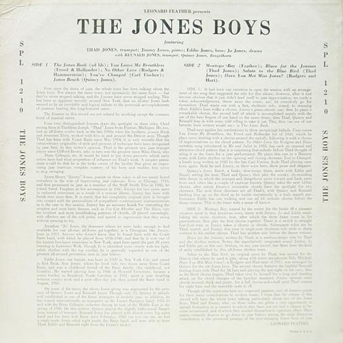 Thad Jones - The Jones Boys (1957) back